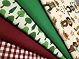 The Craft Junction Polycotton Fat Quarter Paket yee-haw