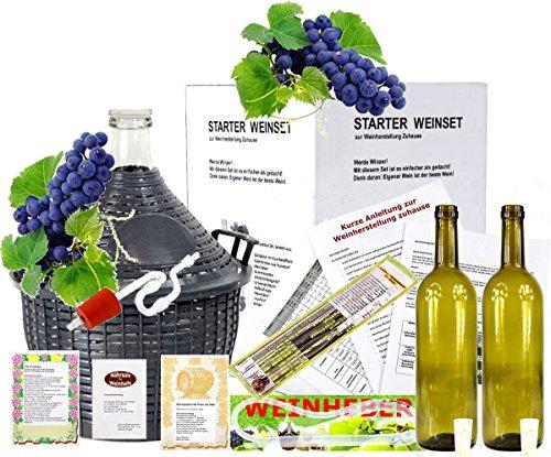 Starterset -Mach Wein selbst komplettes Weinset Wein selbermachen Weinballon (25 Liter)