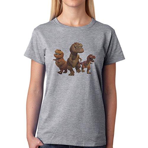 Butch Nash And Ramsey The Good Dinosaur Run Damen T-Shirt Grau