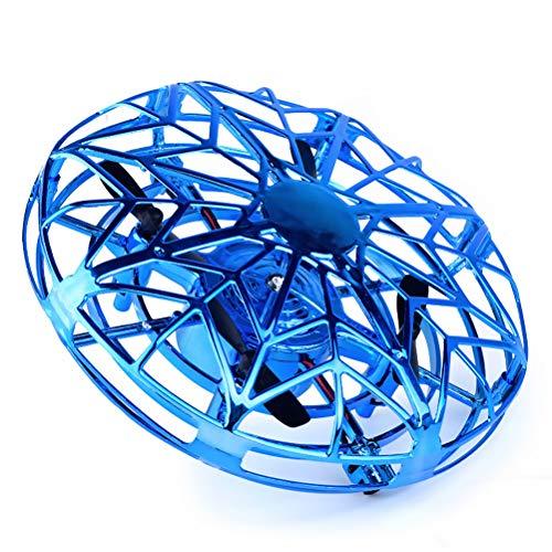 Neborn Anti-kollision Hand UFO Ball Fliegen Flugzeug RC Spielzeug Led Geschenk Suspension Mini Induktion Drone Für Kinder Jungen (Blau) -