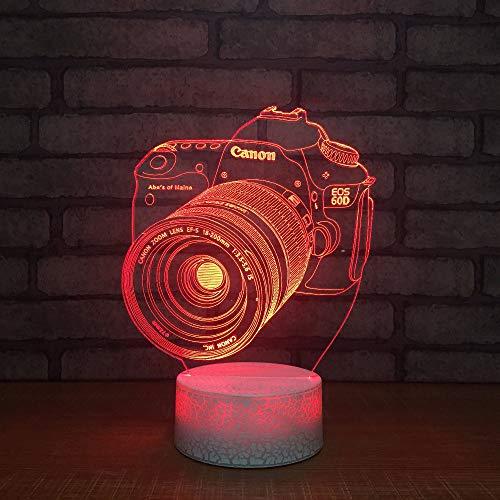 7 farbwechsel 3d led tischlampe touch schalter lampe kamera modellierung usb stimmung beleuchtung dekoration kid schlafzimmer nachtlichter, fernbedienung (Kid Schlafzimmer-beleuchtung)