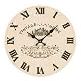 Premier Housewares Vintage Home Wall Clock - Cream