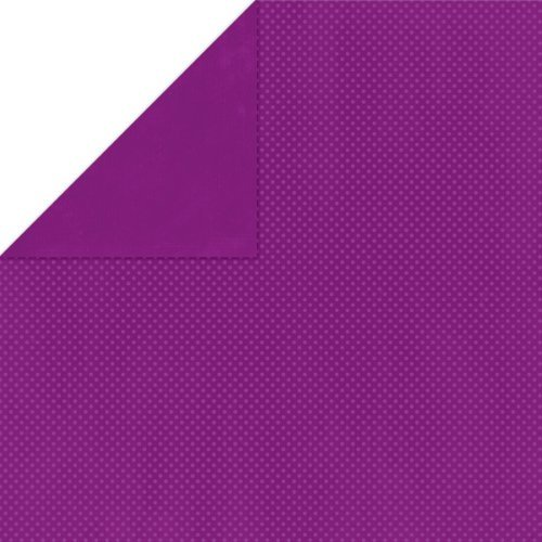 BoBunny Double Dot Double-Sided Textured Cardstock 12x12-Grape 25 per pack by Bo Bunny -