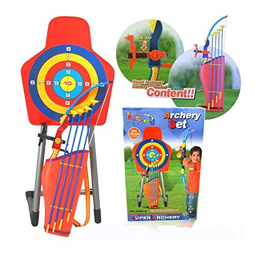 ROHANS Kids Toy Bow & Arrow & Holder Archery Set with Target Outdoor Garden Fun Game