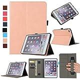 MYTHOLLOGY für ipad Mini/ipad Mini 2 /ipad Mini 3 /ipad Mini 4 Hülle, PU-Leder Tablet Schutzhülle Tasche mit Handschlaufe und Kartenschlitz, Standfunktion Hülle - Sahne
