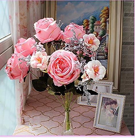 KAI-europäische imperial rose seide blüte leuchtend rosa blumen hochzeit hotel zu hause verbringen ein paar fernlicht (Essbare Arrangements Weihnachten)