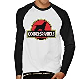 Jurassic Cocker Spaniels Men's Baseball Long Sleeved T-Shirt