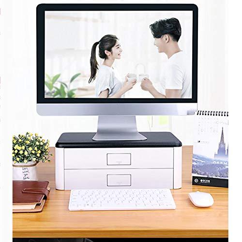 Holz Computer Monitorständer Riser, Office Laptopständer laptop ständer Schreibtisch Mit storage-veranstalter Schublade Schreibtischtop-computer kommode-B 40x24x14cm(16x9x6inch) -