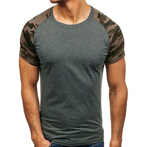 Herren Sweatjacke FORH Herren Herbst Winter Bluse Camouflage Drucken Hoodie Sweatshirt Long Sleeve Top Kapuzenjacke Hoodie mit Kapuze Reißverschluss