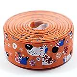 Midi Ribbon Ripsband mit Hunde-Design, grob geripptes Seidentuch, 9,14 Meter lang, ideal zur Herstellung von Haarschleifen, Hundehalsbändern etc. Pack 3