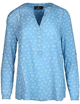 Bluse für Damen von Zwillingsherz / mit Ankern / perfekt für den Sommer /Oberteile/Tops/Hemd/Shirt/Sweatshirt