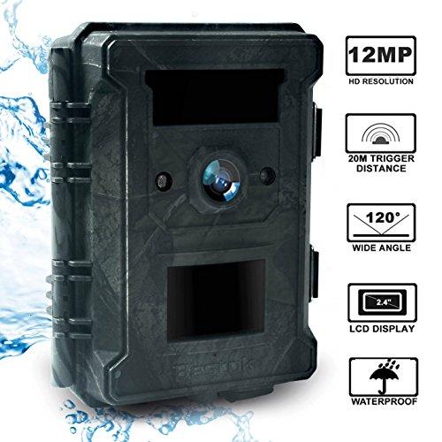 Bestok Cámara de Caza 12MP HD para Vigilancia Visión Nocturna 120 °