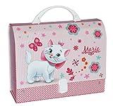 Kinderkoffer / Kindergartenkoffer Disney Katze Marie Aristocats - z.B. für Lunchbox - Puppenkoffer Koffer Reisekoffer aus Pappe - für Kinder Mädchen Tiere Blumen Lunchkoffer für den Kindergarten
