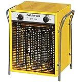 Master Elektro Heizlüfter B 15 EPB 15,0 KW, 3 Heizstufen - 400 V, 1 Stück, gelb, 4012013