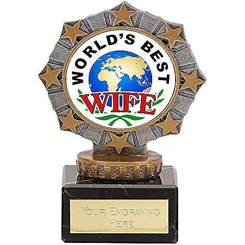 Miglior moglie del mondo resina Trofeo 4,25