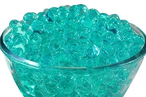 Water Beads - Turquoise Blue Colour - Aqua Crystal Soil Bio Gel - 20 Packets - Wedding Vase Centerpiece By Trimming Shop