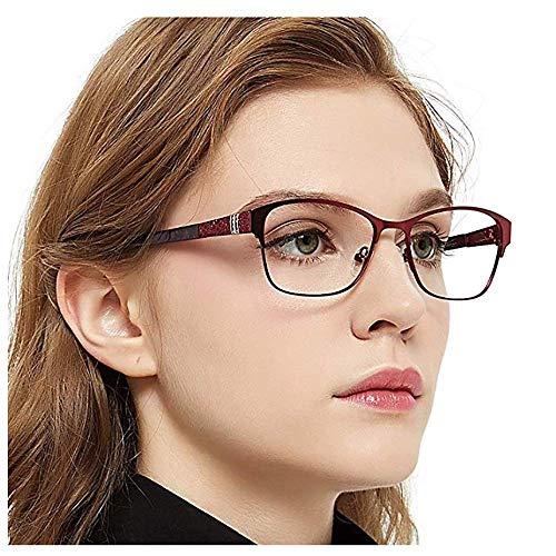 OCCI CHIARI Brillenrahmen Optische Brillen Rahmen Green Brille Optische Gläser Vintage Metall Oval Brille Leichte Brillen Full Damen