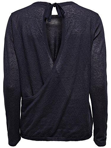 femmes pull en tricot Rush L/S Pullover Knt crème-blanc gris bleu NIGHT SKY - dunkelblau
