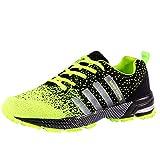 Wealsex Zapatos Para Correr En Montaña Asfalto Aire Libre Deportes Zapatillas De Running Para Hombre (45, Verde)