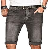A. Salvarini Herren Designer Jeans Short Kurze Hose Slim Sommer Shorts Bermuda [AS-106-W34]
