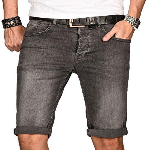 A. Salvarini Herren Designer Jeans Short Kurze Hose Slim Sommer Shorts Bermuda [AS-106-W33]