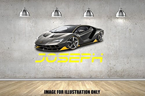 Lamborghini Centenario personalisierte Namen Wandtattoo Kinder Jungen Mädchen Wand Aufkleber Wand Kunst Transfer Aufkleber