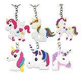 Kesote 12 llaveros en Forma de Unicornio Llavero Color Unicornio de 6 Modelos Buen Regalo...