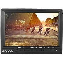 Andoer 7 '' Ultra-delgada Monitor de Vídeo en Cámara Full HD 1920x1200 IPS Pantalla Monitor de campo con Quitasol Entrada HDMI para DSLR Canon Nikon Sony A7S / A7S II / A7R / A7R II Cámara Videocámara
