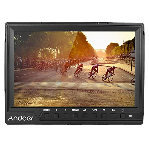 Andoer 7-in on-Camera Video Monitor Full HD 1920x1200 IPS Screen Field Monitor Support 4K Signal for Canon Nikon Sony A7S/ A7S II/ A7R/ A7R II DSLR Camera Camcorder(FW-759 Upgrade Version)