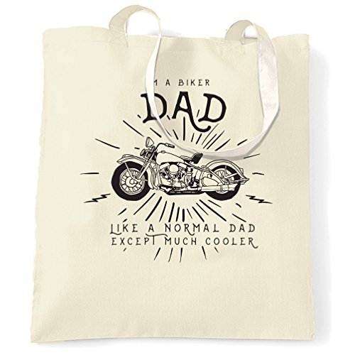 Sono Un Papà Motociclista Come Un Papà Normale, Tranne Un Sacco Di Papà Più Freddo Che Porta La Borsa In Modo Naturale