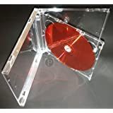 Panmer - Cajas dobles para CD (5,2 mm, 10 unidades), transparente
