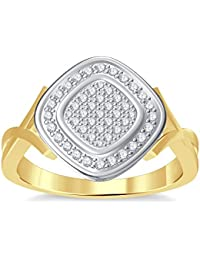 Silvernshine 10K Yellow Gold Filled 1.35ctt Round Cut Simulated Diamonds Women's Engagement Ring