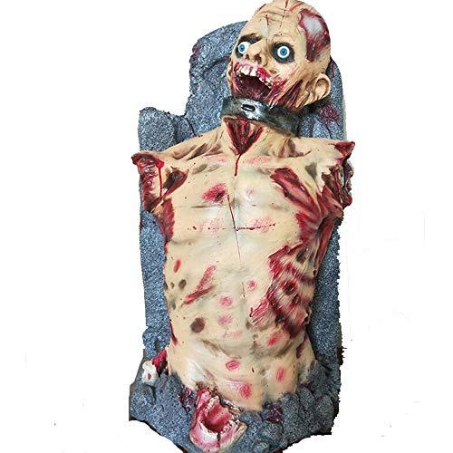 Kostüm Ghost Armee - PENGWH Halloween Bar KTV Spukhaus Flucht Requisiten Grabstein Sperre Throat Ghost Devil Scary Broken Arm Ghost Dekoration