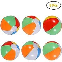 """Twister.CK Balles de Plage, 8 """"Gonflable Arc-en-Plage Balles de Plage Piscine Party Party faveurs (6 Pack)"""