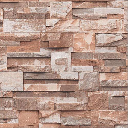 Wallpaper FANGQIAO SHOP Marmor Kopf Tapete, 3D Stereo Simulation Aufkleber Kleidung Storefront Wandbilder Eingang Halle PVC Kunst Dekor Wandtuch (Farbe : B)