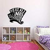 zhuziji Magische Hut Wandaufkleber Cartoon Vinyl Kunst Aufkleber Mädchen Kinderzimmer Schlafzimmer Decoratio56.4x50.4cm