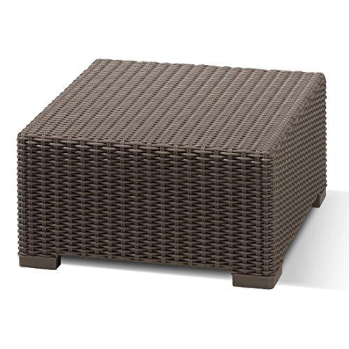 Allibert 201390 Lounge Tisch California, Rattanoptik, Kunststoff, braun