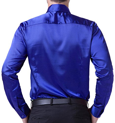 Paul Jones Herren Freizeit-Hemd Mehrfarbig Mehrfarbig Blau