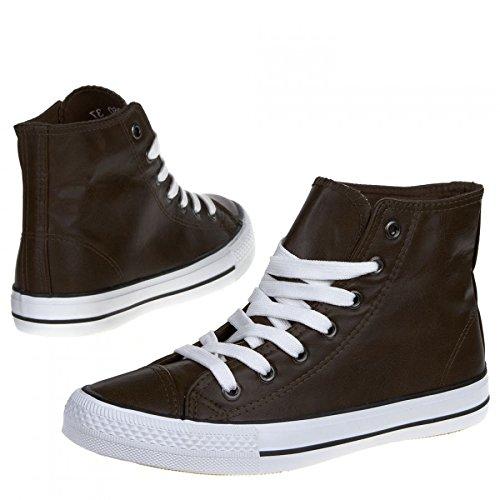 Produktbild Damen Sneaker Freizeitschuh Damen Sneaker Schnuerschuhe Schuhe Turnschuhe Damenturnschuhe Halbschuhe, Farbe Braun, Gr. 41
