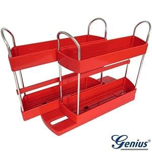 genius gew rzregal in rot k che haushalt. Black Bedroom Furniture Sets. Home Design Ideas