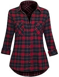 Frauen T-Shirt Hemd mit Knopfleiste klassischer Schnitt