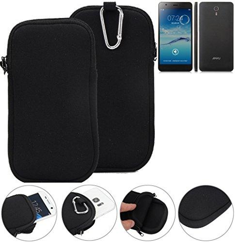 K-S-Trade Neopren Hülle für Jiayu S3 Advanced Schutzhülle Neoprenhülle Sleeve Handyhülle Schutz Hülle Handy Gürtel Tasche Case Handytasche schwarz