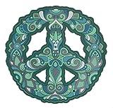 Escarabajo Azul.Pegatina de vinilo para coche y moto, modelo Símbolo de la Paz 9,5 x 9,5...