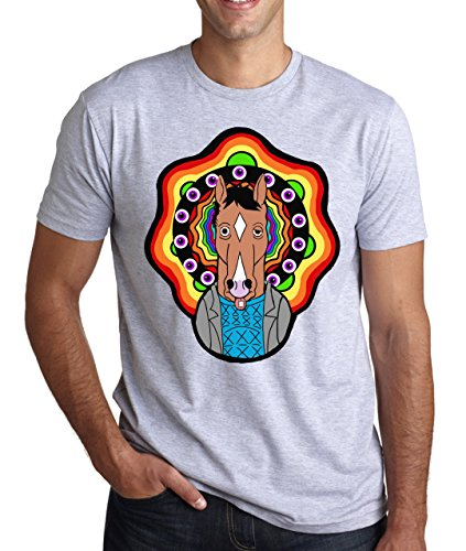 Crazy Horse T-shirt (BoJack Horseman On LSD Crazy Horse Men's T-Shirt Large)