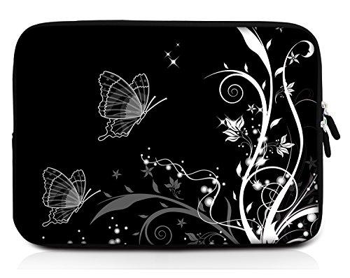 Sidorenko 11-11,6 Zoll Laptop Hülle - Laptoptasche für MacBook / Chromebook aus Neopren, Schwarz, 42 Designs zur Auswahl