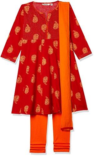 Karigari Girls' Straight Regular Fit Salwar Suit (274639661_Assorted_03Y)