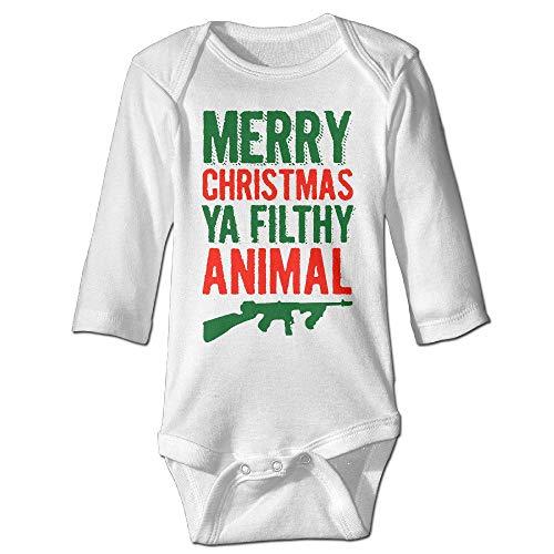 tmas Ya Filthy Animal Kids Boys Girls Baby Bodysuit Outfits Baby Onesies ()