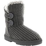 Damen 2 Taste Klassisch Schnee Gemütlich Pelz Gefüttert Schuhe Stiefel EU 36-43