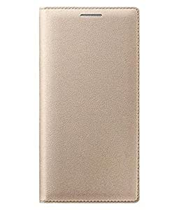 RIdhaniyaa Premium PU Leather Flip Cover Case for Asus Zenfone 2 Laser 5.5 (GOLD)