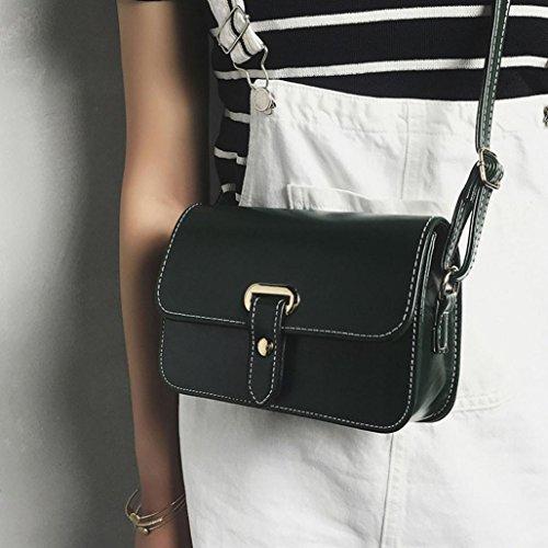 LETTER® Tasche Crossbody Schultertasche Handtasche Mädchen Frauen Retro Grün